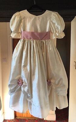 Girl'S Vintage 1980'S Victorian Style Ivory Bridesmaid Dress