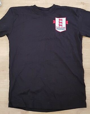 England boxing Logo t shirt in black size small