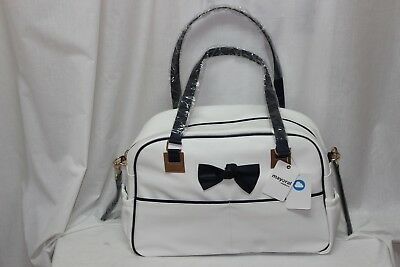 #Mayoral white with blue bow changing bag