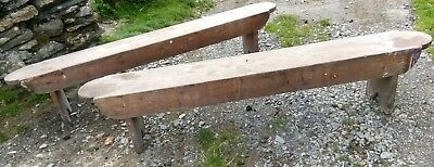 VICTORIAN PINE BENCH FOR FARMHOUSE KITCHEN TABLE 7ft LONG BARN FIND