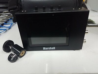 """Marshall V-LCD4-PRO-L 4"""" LCD 2-Channel Broadcast Monitor Working"""
