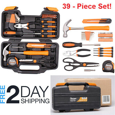 Tool Set For Home Household Repair Kit With Case Hand Toolbox Small Storage Box