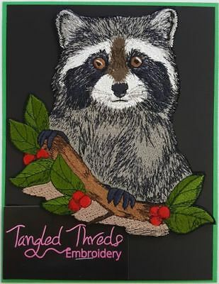 """Raccoon Embroidered Patch 5.1"""" x 5.6"""""""