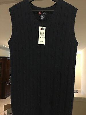Chaps Sweater Vest Boys Navy Size L (14-16)