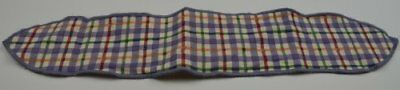 Longanerger Blueberry Plaid Handle Tie Collectible Accessory Fabric Home Decor