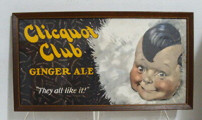 1920's Original Clicquot Club Ginger Ale They All Like It CB Trolley Car Card