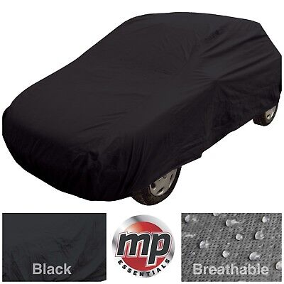 Black Indoor & Outdoor Frost Rain UV Protection Breathable Full Car Cover MEDIUM