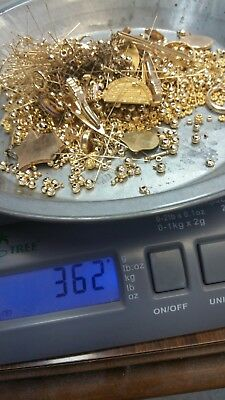 360 Grams Of Gold Filled Scrap , Gold Recovery Some Wearable