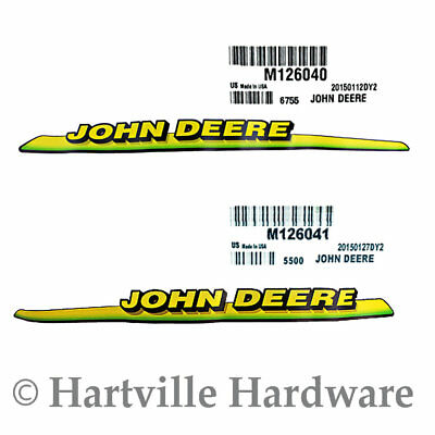 John Deere Hood trim decal set for 325 GT225 LX225 M126040 M126041