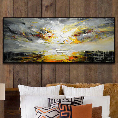 HH373 Large Modern Hand-painted Scenery oil painting on canvas Color art