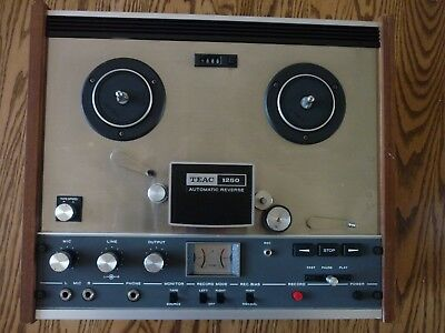 Vintage TEAC A-1250 Reel to Reel Tape Recorder - Reels not included.