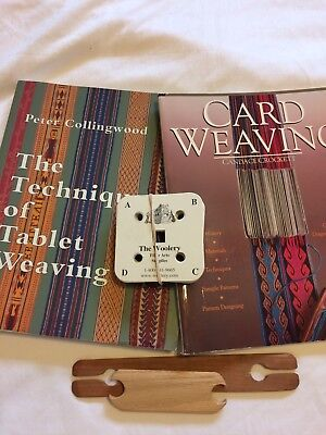 Two new card (tablet) weaving books plus Cards and Shuttles SCA
