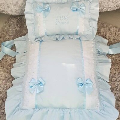 BABY BLUE little prince Pram cover quilt set suit 3 in one prams & moses baskets