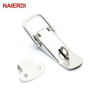 4PC NAIERDI-J106 Cabinet Box Locks Spring Loaded Latch Catch Toggle 27*63 Iron