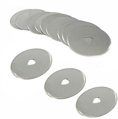 5pc 45mm Rotary Cutter Blades Craft Paper Cut Hand Held Scrapbooking Spare Fits