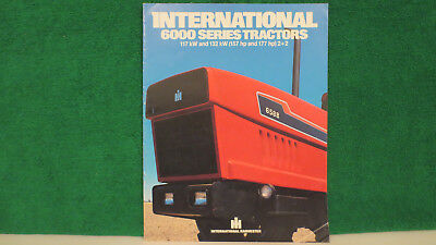IH tractor brochure on 6000 Series Tractors, 117kw and 132 kw 2+2 4WD's, 1982.