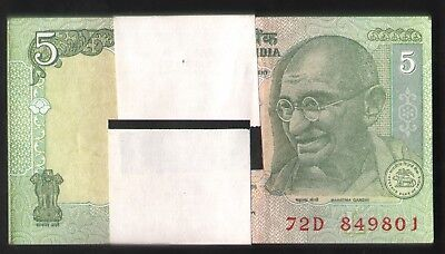 India  5  Rs  Unc  Bundle Serial Wise  100  Pcs  L  Inset  Bimal Jalan   Issue