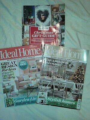 Ideal Home magazine Bundle August 2018 + December 2018 with Christmas Gift guide