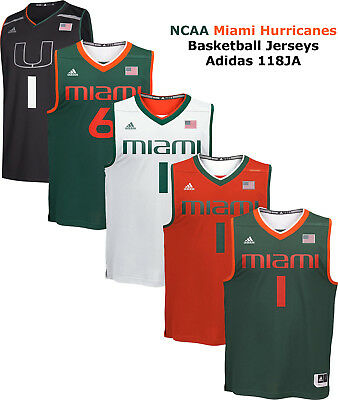 883672fe NCAA MIAMI HURRICANES Mens Basketball Replica Jersey Player Jersey 118JA NEW