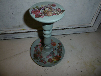 Vintage wooden millinery stand hat stand Duck egg blue Annie Sloan paint