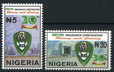 Nigeria 1999 Mnh Set 30Th Anniv. Of Nicon Insurance Corporation