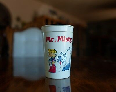 Two RARE Plastic Dennis the Menace Mr. Misty Dairy Queen Cups