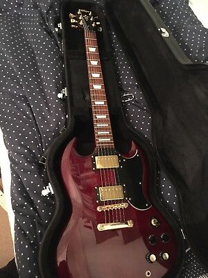 Vintage,Vs6 SG , Cherry Red , With Hard Case