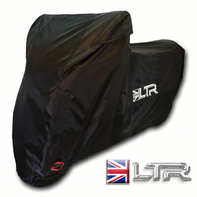Large LTR Motorcycle Motorbike Waterproof Cover Heavy Duty Vented Outdoor Rain