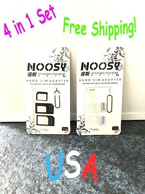 Genuine NOOSY SIM Card Adapter 4-in-1 Nano to Micro Standard Converter Phone