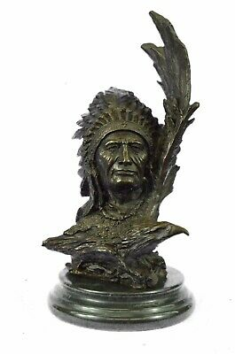 Handcrafted European Bronze Original Harriet Native American GRADE Sculpture Art