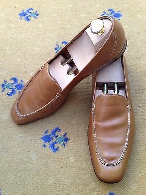 John Lobb Men's Tan Brown Leather Loafers Shoes UK 10 US 11 EU 44 Moccasin