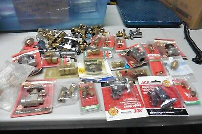 Brass Fittings Lot of plumbing heating compression Part valves connectors unions