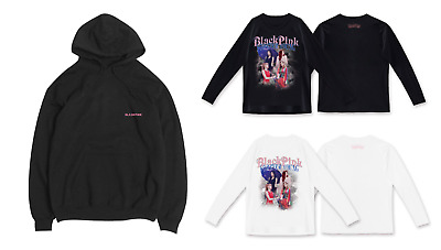 [BLACK PINK] Black Pink IN YOUR AREA LONG SLEEVE T-SHIRTS and Hooded Black T-shi