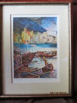 Franklin Mint The World's Most Romantic Cities - Hong Kong lithograph