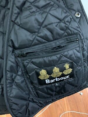Barbour Men's Lightweight Quilted Tinford Jacket Button Front Navy