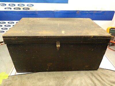 Antique Vintage Primitive Tool  Cabinet  Box Storage Tackle Wooden With Hardware