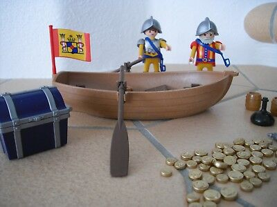 Playmobil Piraten - 4295 - Schatztransport im Ruderboot - Soldat - wie NEU