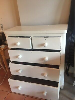 Victorian Pine Chest of Drawers - fully functioning and in current use.