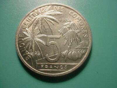 Comores 1984 5-Francs In Very Nice Uncirculated Condition