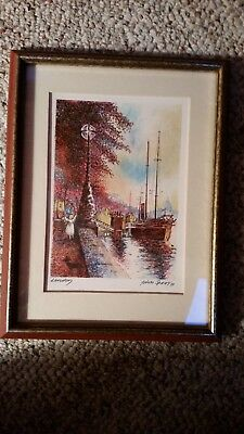 Franklin Mint The World's Most Romantic Cities - London lithograph