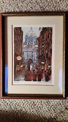 Franklin Mint The World's Most Romantic Cities - Vienna lithograph