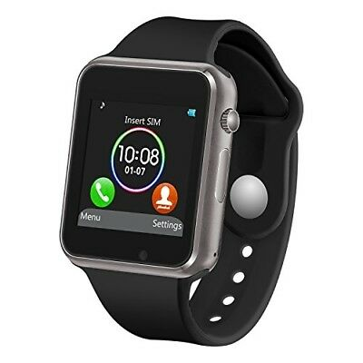 Smart Watch with Bluetooth Camera Music Player iOS iPhone Android Samsung Black