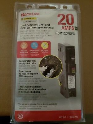 Square d dual function 20 Amp Single Pole Plug On Neutral lot of 3