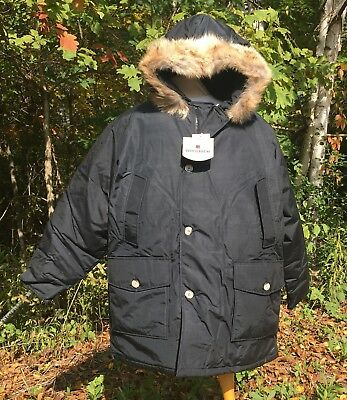NEW WOOLRICH Arctic Parka - Black Down Parka With Real Coyote Fur Men's 2XL