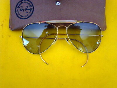 Vintage Baush & Lomb Ray-Ban Aviator Sunglasses w/ Case - ca. 1940's - Awesome!