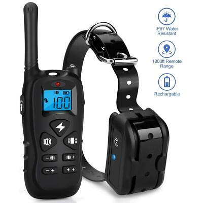 Mothca Dog Training Collar Remote 1800ft Waterproof Rechargeable Beep/Vibration