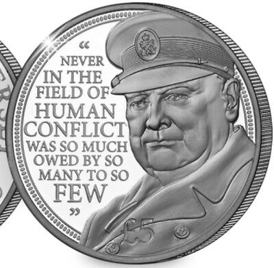 2015 £5 WINSTON CHURCHILL SILVER 5 FIVE POUND COIN UNCIRCULATED CROWN JERSEY (c)