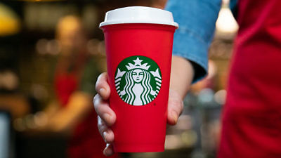 Starbucks 2018 Limited Edition Red Holiday Christmas Reusable Plastic Cup