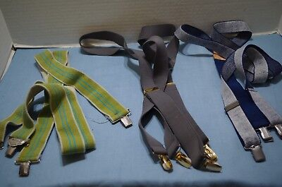 Lot  Vintage Police Brace Suspenders & 2 others # pairs Total Size M/L