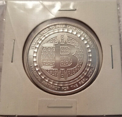 1 oz Bitcoin Guardian Commemorative .999 Silver Round (New), 1 of 10,000 COA